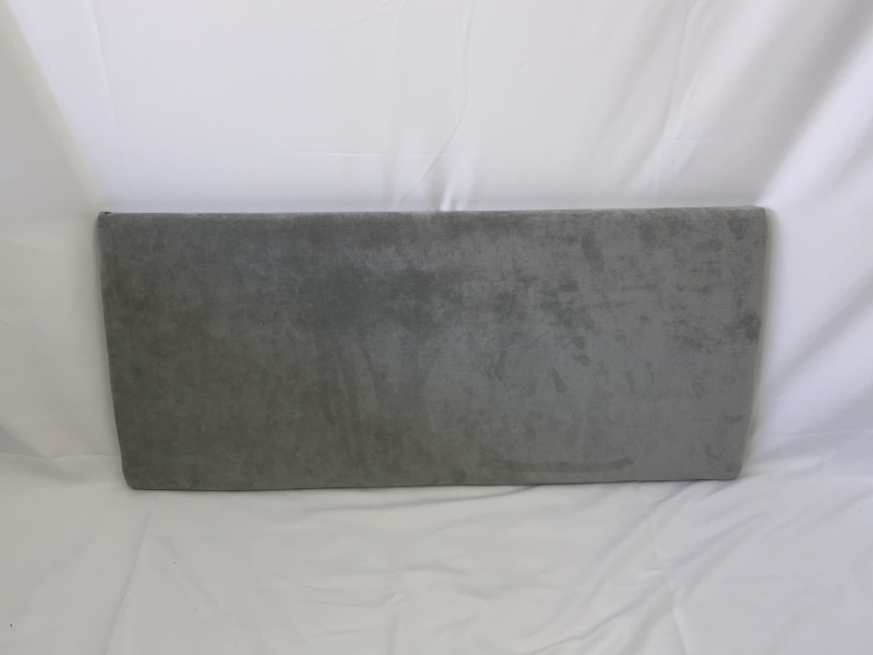 3ft grey fabric headboard