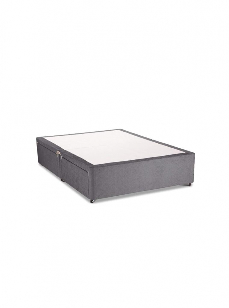 4ft6 divan base with 2 drawers
