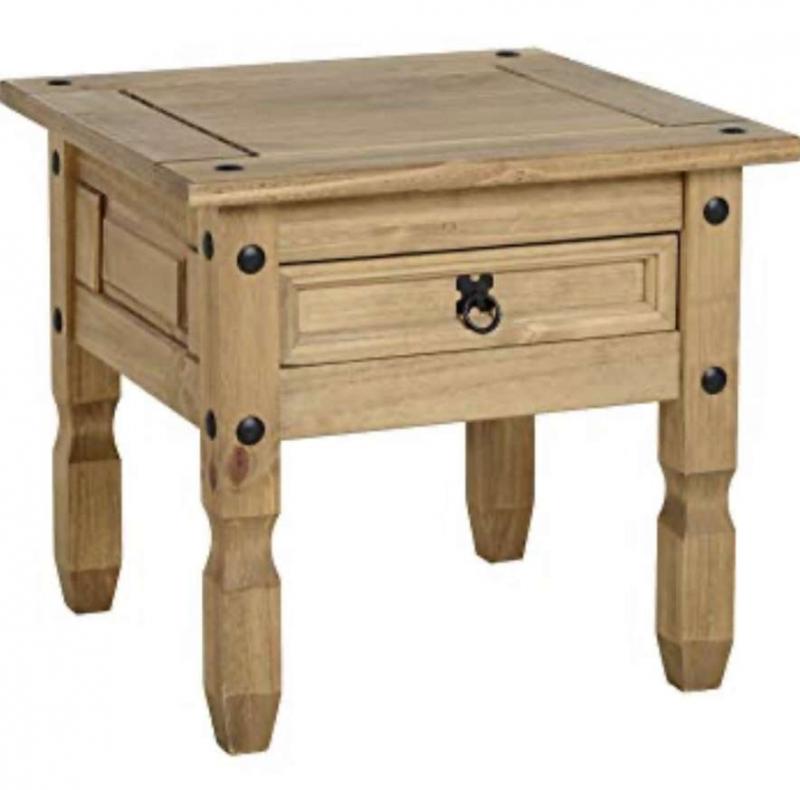 Corona 1 drawer lamp table