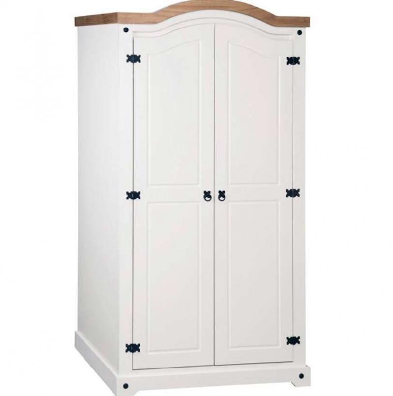 Corona 2 door wardrobe (white)