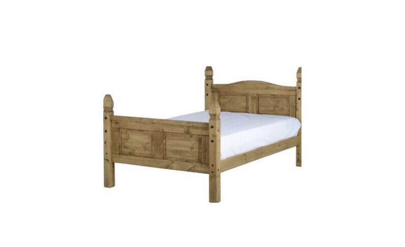 "Corona 4'6"" Bed High end"