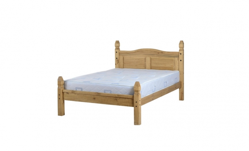 "Corona 4'6"" Bed low foot end"