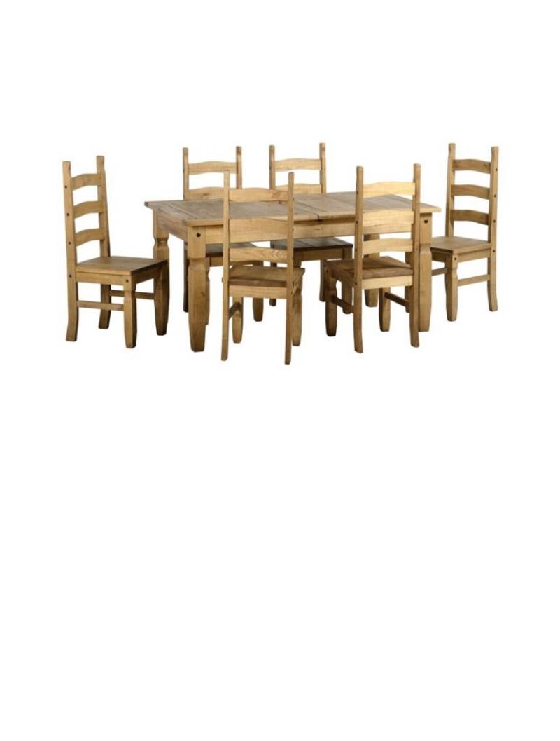 Corona Extending Dining Set - Six Chairs