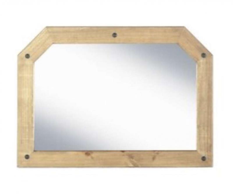 Corona over mantle mirror
