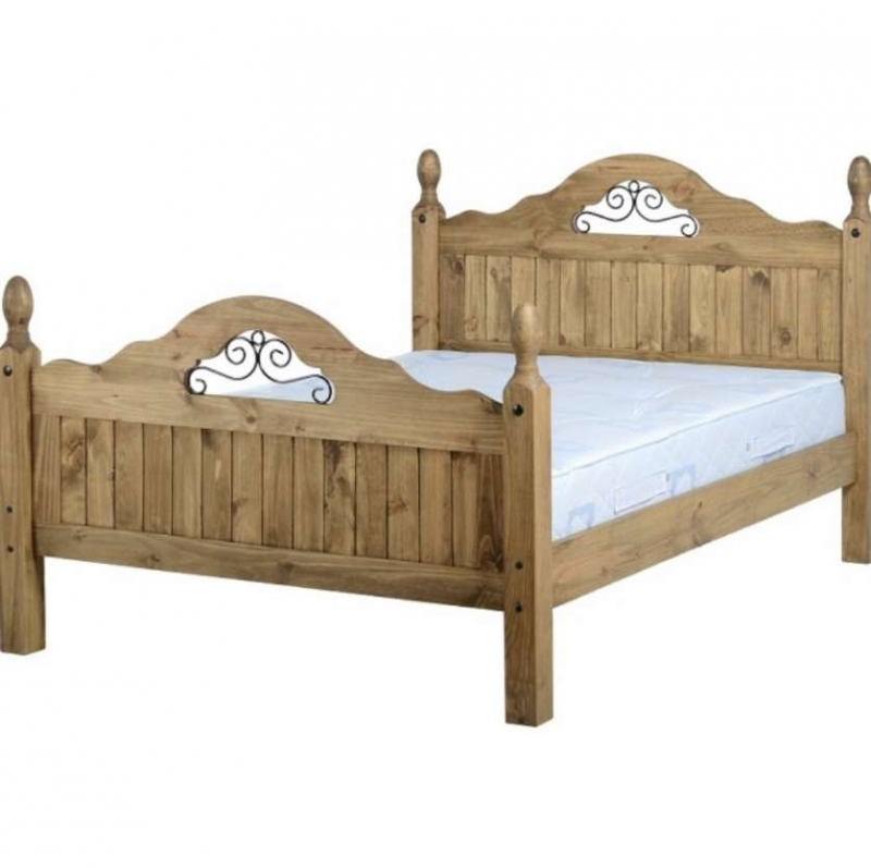 "Corona scroll 4'6"" Bed Highfoot Wnd"