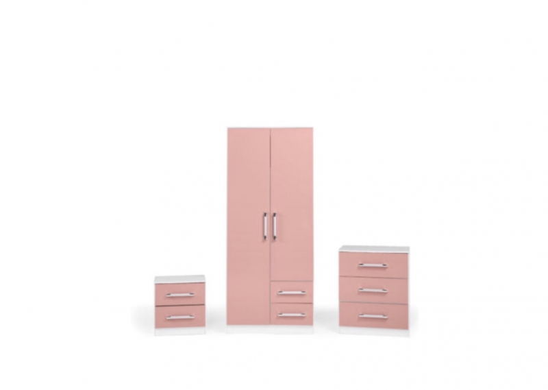 Jasper bedroom set pink