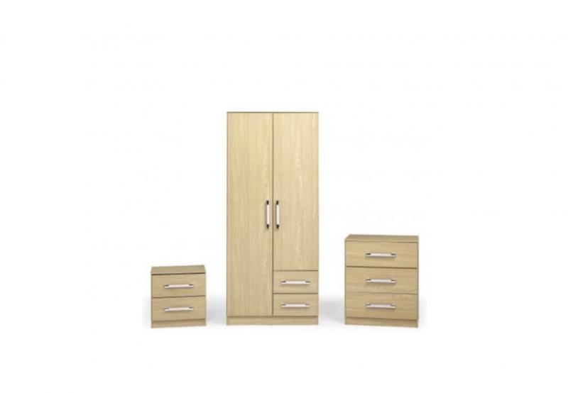 Jasper bedroom set wood effect