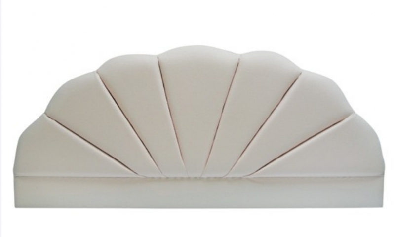 Shell Ivory Velour Headboard