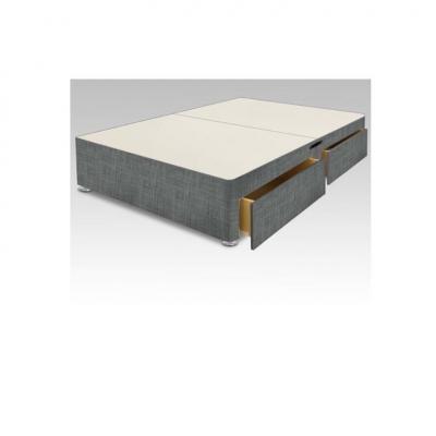 4ft6 grey divan base