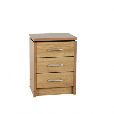 Charles 3 drawers bedside chest