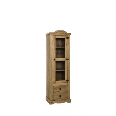 Corona 1 Door 2 Drawer Glass Display Unit