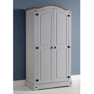 Corona 2 door wardrobe (grey)