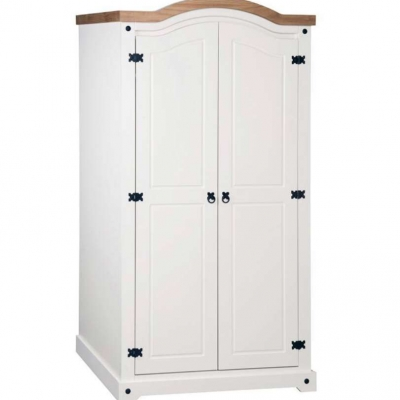 Corona 2 door wardrobe (white)
