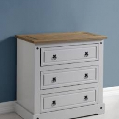 Corona 3 Drawer Chest (grey)