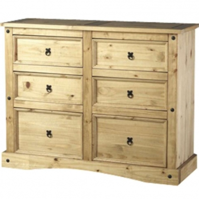 Corona 6 drawers chest
