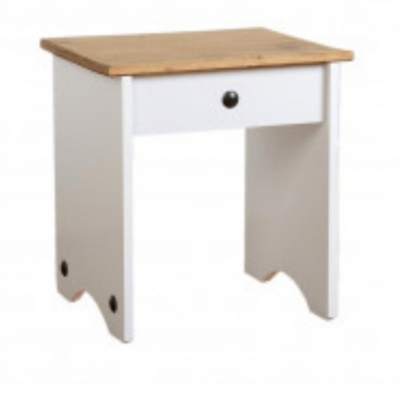 Corona dressing table stool (white)