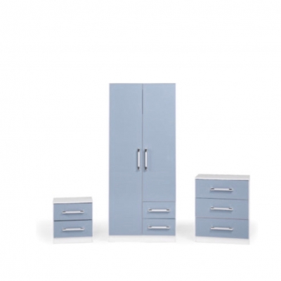 Jasper bedroom set blue