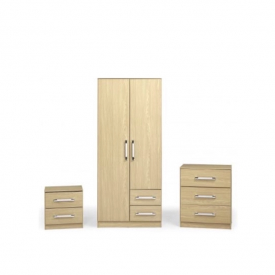 Jasper bedroom set wood effect