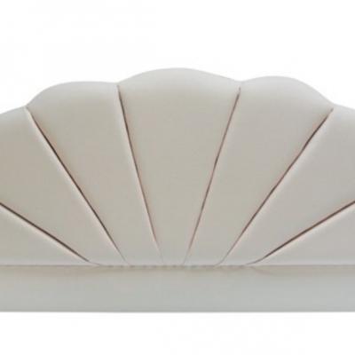 Shell Ivory Velour Headboard