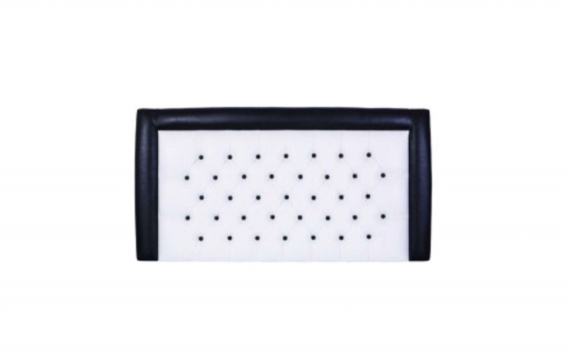 Tokyo Black and White Faux Leather Headboard